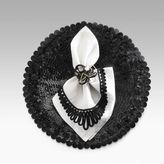 Black Leather Sequin Placemat