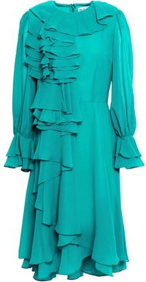 Mikael Aghal Layered Ruffled Chiffon Dress