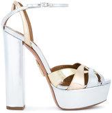 Aquazzura Metallic Luna Platform Heels - women - Leather - 36