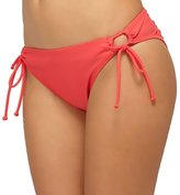 Roxy Women's Surf Essentials 70's Lowrider Side Tie Bikini Bottoms-Pink