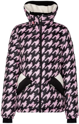 Perfect Moment Exclusive to Mytheresa Apres Duvet houndstooth down ski jacket
