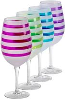 Sheridan Multicolor Stripe Banda Goblet - Set of Eight