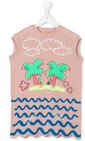 Stella McCartney Joni palms dress - kids - Cotton - 12 yrs