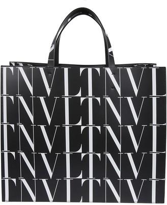 Valentino Vltn Print Tote Bag