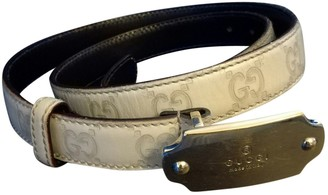 Gucci Grey Leather Belts