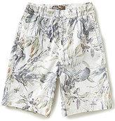 First Wave Big Boys 8-20 Tropical-Print Twill Shorts