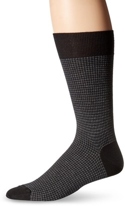 Punto Men's Two Color Houndstooth Sock