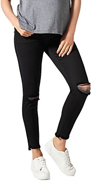 BLANQI Cotton Ripped Skinny Maternity Jeans