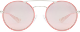 Prada Round-frame mirrored sunglasses