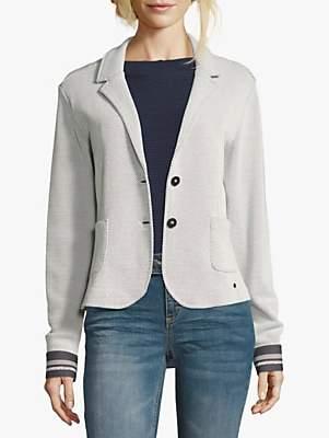 Betty & Co. Unlined Sports Blazer, Silver/White