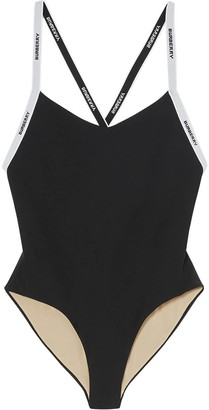 Burberry Branded Strap One Piece Swimsuit