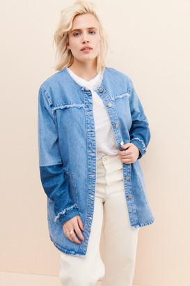 Just Female Norma Denim Longline Jacket
