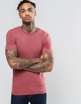 Asos Extreme Muscle T-Shirt In Red Marl