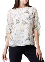 Hobbs London Virginia Printed Tie-Sleeve Top
