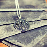 Anna Lou of London Personalised Men's Monogram Necklace