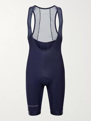 Café Du Cycliste Adele Mesh-Panelled Jersey Cycling Bib Shorts - Men - Blue