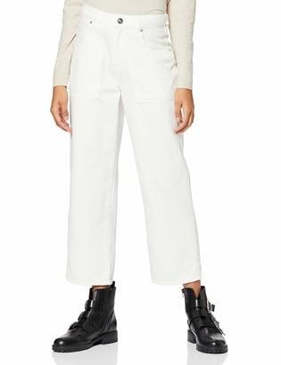 Only Women's Onqemma Mid Wide Crop DNM Jeans Rea08726 Trouser