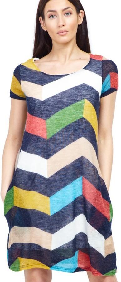 M&Co Izabel grid print shift dress