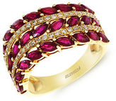Effy Diamond And Ruby 14K Yellow Gold Ring