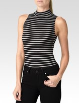 Paige Makenna Bodysuit - Black White Stripe