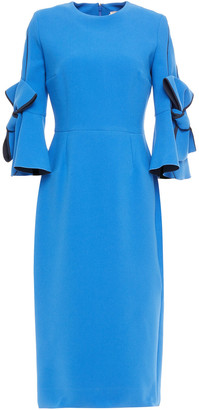 Roksanda Lavete Bow-embellished Crepe Midi Dress