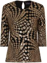 HotSquash Square Sequin Top with Clever Lining