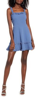 Speechless Ruffle Trim Sleeveless A-Line Dress