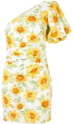 Bec & Bridge Floral One Shoulder Dress