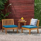 Bronx Larocca Patio Chair with Cushions Ivy Frame Color / Cushion Color: Teak Frame / Dark Teal Cushion