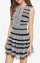 BCBGMAXAZRIA Kirsi Embroidered Dress
