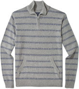 American Rag Sweater, Reverse Stripe Quarter Zip