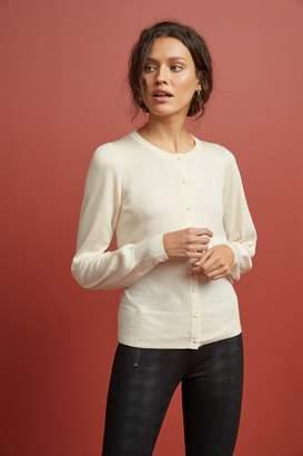 Next Womens Cream Volume Sleeve Cardigan - White