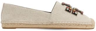 Tory Burch 10mm Ines Embellished Linen Espadrilles