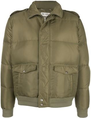Saint Laurent zip-up short puffer jacket