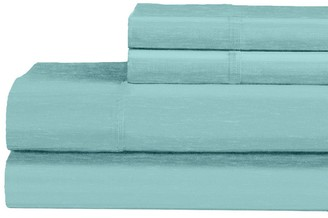 Ella Jayne Heathered 120-Thread Count Cotton-Blend 4-Piece Bedding Set