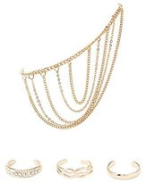 Charlotte Russe Embellished Toe Rings & Anklet Set