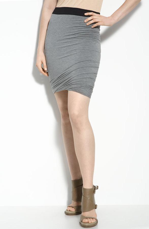 Alexander Wang Ruched Knit Skirt