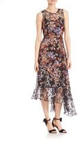 LK Bennett Camille Asymmetrical Floral Dress