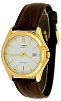 Casio MTP-1183Q-7A Men's Gold Analog Dress Watch w/ Croc-Leather Band & Date