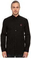 Love Moschino Long Sleeve Black Patch Button Up