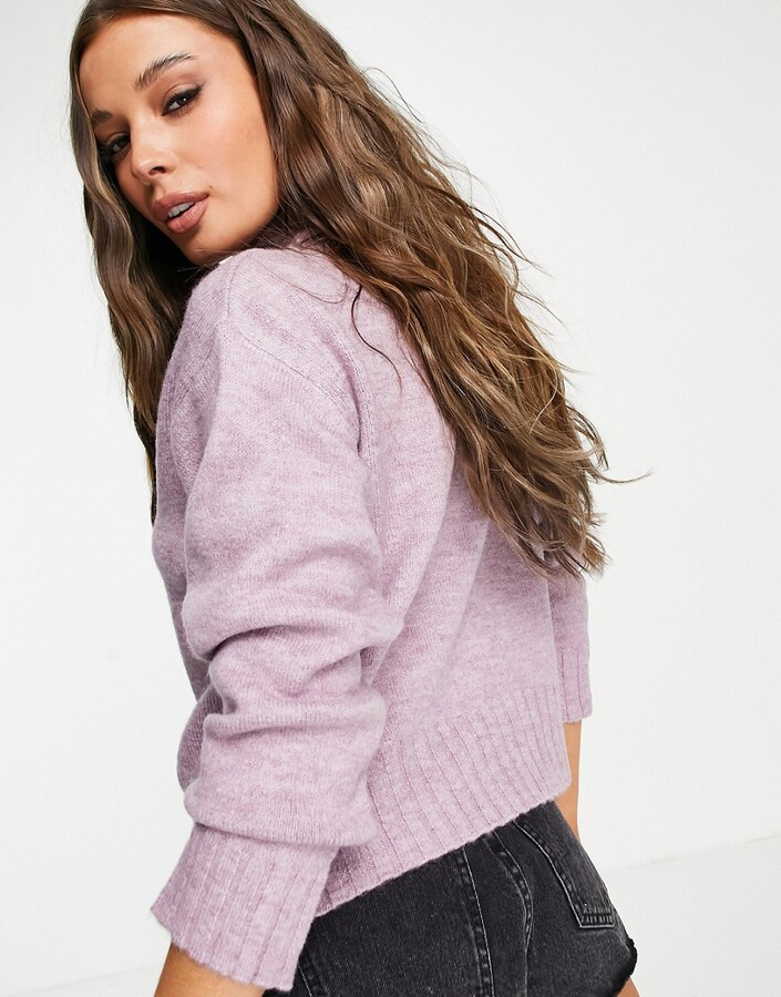 Thumbnail for your product : New Look high neck jumper in lilac