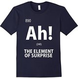 Element Men's Ah! The of Surprise T-Shirt Funny Chemistry Tee Small