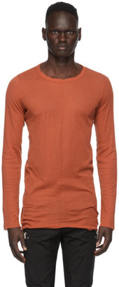 Rick Owens Orange Long Sleeve T-Shirt