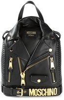 Moschino biker backpack - women - Calf Leather/Metal (Other) - One Size
