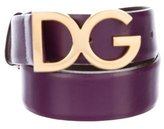 Dolce & Gabbana Logo-Accented Leather Belt