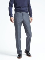 Banana Republic Slim Blue Plaid Wool Suit Trouser