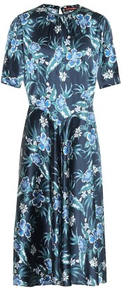 Altuzarra Floral stretch-silk midi dress