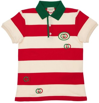 Gucci Cotton Piquet Polo W/ Patch