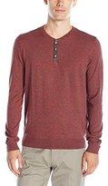 Calvin Klein Men's Cotton Three Button Henley Sweater