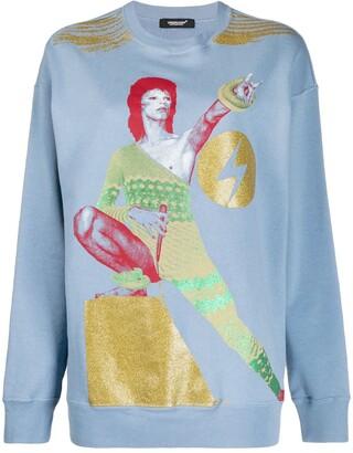 Undercover graphic Bowie print sweatshirt